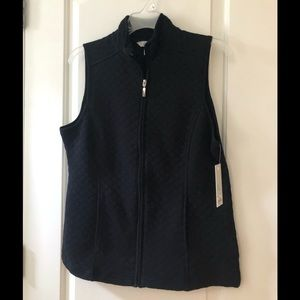 Croft & Barrow black vest.  NWT
